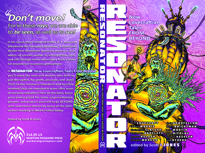 RESONATOR: New Lovecraftian Tales From Beyond (paperback and ebook covers)